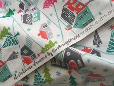 """Dashwood Christmas""""Christmas Dreams"""" CHRISTMAS VILLAGE OFF CUT 100% Cotton"""