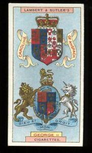 Tobacco Card,Lambert Butler,ARMS OF KINGS & QUEENS OF ENGLAND,1906,George II,#35