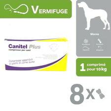 CANITEL PLUS VERMIFUGE LARGE SPECTRE PLAQUETTE DE 8 COMPRIMÉS (1COMPRIMÉ /10KG)