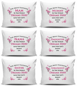 Personalised Any Name Most Fantastic In The World Pillow Case - 75cm x 50cm