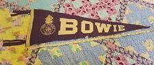 Vintage Bowie Junior High Odessa TX felt pennant purple white Horn Frogs Horned
