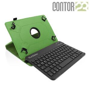 """Schutzhülle + Bluetooth-Tastatur in GRÜN für 9.7"""" Samsung Galaxy Tab S2"""
