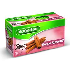Dogadan Cinnamon & Clove Premium Herbal Tea ( 5 Boxes / 100 teabags ) -UK Seller
