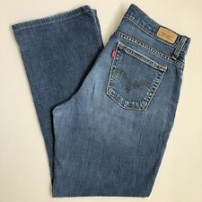 Levis Womens 10 Relaxed Boot Cut 550 Jeans Distressed Stretch 31 x 28