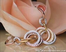 Ohrschmuck aus mehrfarbigem Gold mit Diamanten Butterfly-Verschluss
