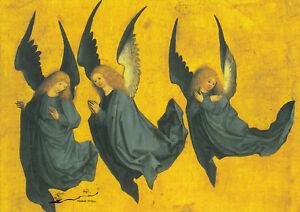 Postkarte: Drei schwebende Engel