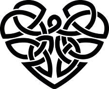 Celtic Heart vinyl sticker decal - car caravan laptop 10cm x 8cm