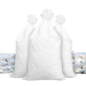 "Flood Sandbags Qty10 White 14"" x 26""  Sandbag Sand Bags Bag Poly Hurricane Prep"