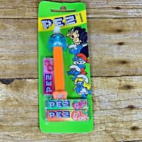 Smurf Boy PEZ Candy Dispenser Orange w/ feet Made in Austria New Vintage 90s