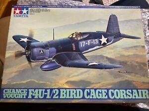 Tamiya 61046 1/48 Scale Aircraft Model Kit Vought F4U-1/2 Birdcage Corsair