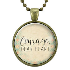 Courage Dear Heart Necklace, Motivational Quote Necklace, Gifts For Her