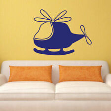 Wall Decal Helicopter Flight Nursery Cheerful Funny Bedroom M516