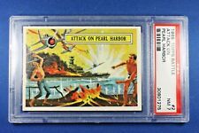 1965 Topps Battle Cards - #2 Attack On Pearl Harbor - PSA NM 7