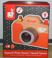 Janod Beech Wood Toddler Camera with Silicone Cover