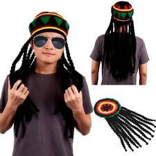 Bob Marley Dreadlocks Jamaican Wig Braid Hat Knitted Beanies Rasta Hair Hat