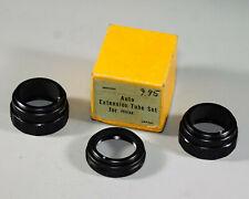 Set of 3 extension tubes for screw-thread Pentax lenses