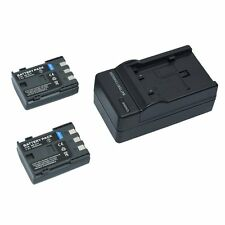 2 x Battery NB-2LH BP-2L5 BP-2LH + charger for Canon Powershot S80 EOS 400D IXY