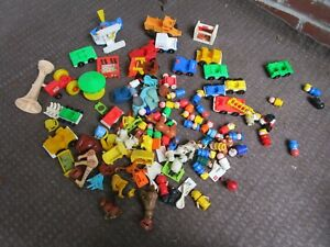 VINTAGE FISHER PRICE LITTLE PEOPLE LOT ACCESSORIES PEOPLE ZOO FARM ANIMALS CARS