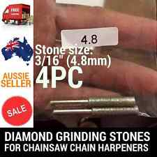 4 X 3/16 DIAMOND GRINDING STONES FOR CHAINSAW CHAIN SHARPENER OREGON STIHL ETC