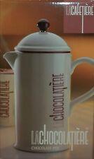 La Cafetiere La Chocolatiere Ceramic Chocolate Pot (34 oz) White B1436