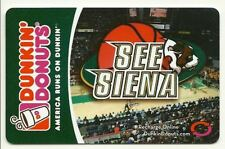 Dunkin Donuts Gift Card See Siena College No $ Value
