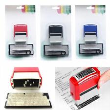 Rubber Stamp Kit Self Inking Diy Business Address Garage Name You Personalise