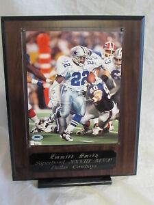 Emmitt Smith Super Bowl 28 MVP Autographed 8x10 Photo Wall Plaque SGC Authentic