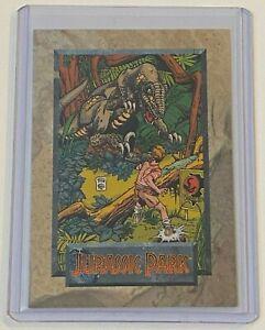 1992 Topps Comics Jurassic Park Raptor #5 Promo Comic Card