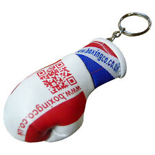 2 X Mini Boxing Gloves Key Ring Minature Boxing gloves Key Chain Uk Flag Design