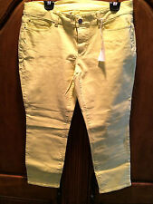 ANN TAYLOR YELLOW PANTS SIZE 12 NEW