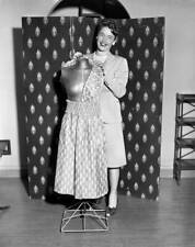 OLD CBS RADIO PHOTO Julie Stevens on the program, The Romance of Helen Trent 1