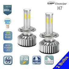 2x H7 4-Sides Shortest LED Headlight Kit Low High Beam Light Bulb 8000K Icy Blue