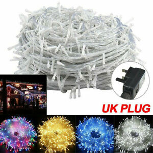 Twinkle LED String Fairy Lights Mains Plug in/Battery for Party Christmas Garden
