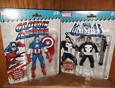 """HASBRO Marvel Legends Vintage CAPTAIN AMERICA/ PUNISHER Action Figure 6"""""""