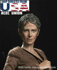 "1/6 The Walking Dead Carol Peletier Head Sculpt For 12"" Hot Toys Phicen IN STOCK"