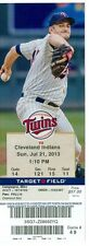 2013 Twins vs Indians Ticket: Justin Masterson took a no-hit bid into the 7th