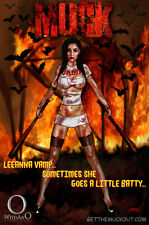 LeeAnna Vamp Muck movie pinup sexy comics cosplay 11x17 signed print Dan DeMille