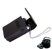 Black Hard PU Leather case with Battery Storage for PANASONIC LUMIX TZ70 7FJ
