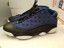 Nike Air Jordan Retro OG black navy low XIII 13 banned I toe XI 11 3 4 size 10.5