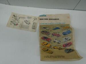 Vintage Eldon Road Race Collect A Car Accessories sheet Pamphlet 1960s