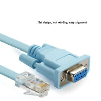 1.8m DB 9Pin RS232 Serial To RJ45 CAT5 Ethernet Adapter LAN Console Cable