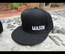 Personalised KIDS Flat Peak Custom Name EMBROIDERED Snapback Toddler Black Hat