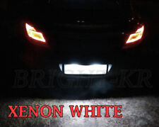 2x Vauxhall Insignia A BRIGHT WHITE LED NUMBER PLATE LIGHT BULBS- XENON WHITE