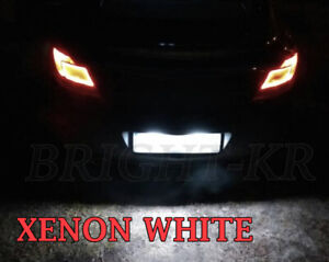 2x FOR Vauxhall Insignia A BRIGHT WHITE LED NUMBER PLATE LIGHT BULBS XENON WHITE