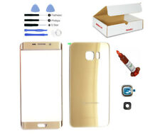 Gold Front Back glass lens replacement UV LOCA Glue Fit Galaxy S6 EDGE PLUS G928