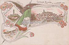 CASTIGLION FIORENTINO - cartolina ricordo16-20 ottobre 1901