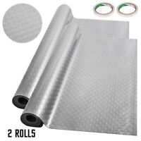 Garage Flooring Mats Roll Trailer Floor Covering Coin Texture 5.2x1.1M 2 Rolls