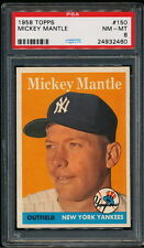Mickey Mantle 1958 Topps Yankees Card #150 PSA 8 *Very Clean*