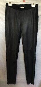 WITCHERY Black 1/2 Leather Women's Pants - Size 12