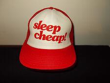 VTG-1980s Sleep Cheap! Furniture Mattress foam mesh trucker snapback hat sku32